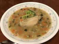 病人食「みじん切り野菜・もち麦と手羽先のスープ」 - よく飲むオバチャン☆本日のメニュー