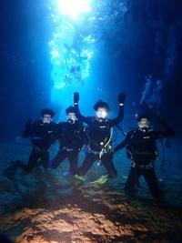 2月12日ようやく行けました!!青の洞窟!! - 沖縄・恩納村のダイビング・青の洞窟体験ダイビング・スノーケルご紹介