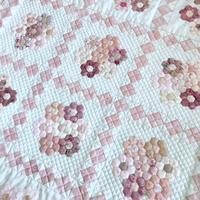 シュガーピンクの花束 - キルトで幸せな毎日を