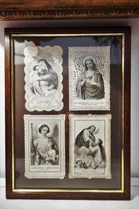 カニヴェ4枚入り木製額864 - スペイン・バルセロナ・アンティーク gyu's shop