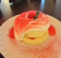 さかい珈琲の白雪いちごのパンケーキ@千葉市稲毛区 - カステラさん