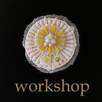 WORKSHOP「春の花ブローチ」3/23 - 彩り屋作品帖