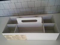 【白】収納キャリーボックスワイドでワンアクション化 - ほぼ100均で片付け収納に挑戦