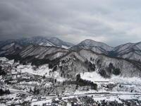 水墨画のような雪景色 - (*´▽`*)