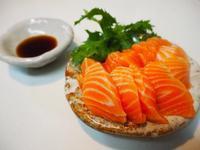 山葵菜とサーモン - sobu 2