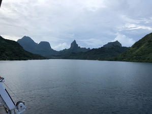 南太平洋クルーズ8(モーレア島に到着) - リタイア夫と空の旅、海の旅、二人旅