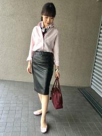 「麻シャツのピンク」をどう着る?…② - madameHのバラ色の人生