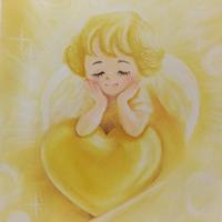 黄の天使 - デザインのアトリエ絵くぼ