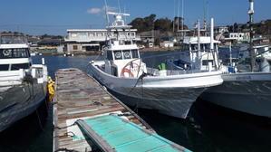 2月13日 改造途中 船降りました - 志摩沖 ほっぺ毛丸