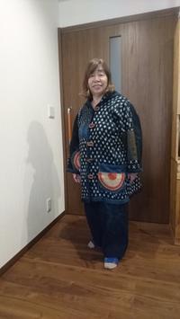 母用の絣のコート作りました - 紅い風