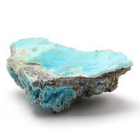 鮮やかな水色の原石ヘミモルファイト - 石の音、ときどき日常