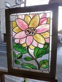 花のケイム組みパネル - atelier GLADYS  ステンドグラス工房 作り手の日々