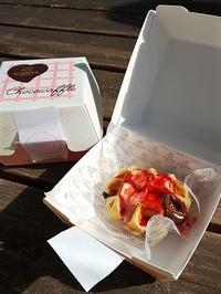 もっちもち♪ チョコワッフル @ そごう横浜 - チョコミントは好きですか?