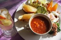 ■ワンプレート朝ご飯【作り置き活用で 簡単10分!!リンゴ酢ドリンク付き♪】 - 「料理と趣味の部屋」