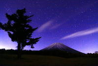 31年2月の富士(14)夜の富士ヶ嶺の富士 - 富士への散歩道 ~撮影記~
