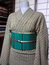 春・・・新緑・・・緑色の帯をコーディネート。 - 京都嵐山 着物レンタル&着付け「遊月」