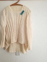 シルクモールセーター、編み上がりました! - ニットの着樂