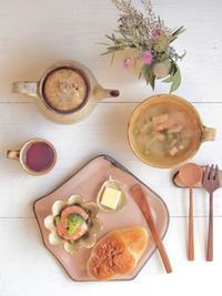 グリーンピースのスープ朝ごはん - 陶器通販・益子焼 雑貨手作り陶器のサイトショップ 木のねのブログ