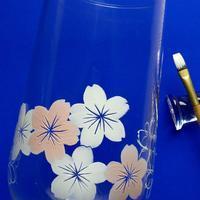 ガラスに桜を描く - ポーセリンペインティング☆ブログ