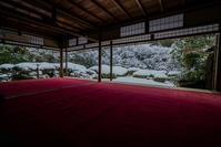 詩仙堂の雪景色 - 鏡花水月