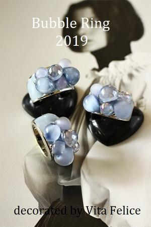 今年の Bubble Ring はマットなベースで! - 神戸インテリアコーディネーターのグルーデコR教室☆Vita Felice☆(JGA認定校)