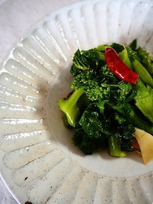 菜の花のオイル蒸し煮 - Kitchen diary