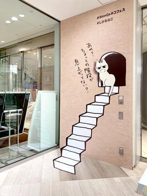 渋谷ヒカリエ ShinQs(シンクス)ネコフェス「しかられトリックアート」のご紹介 - セントラルプロフィックスニュース
