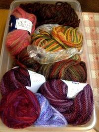 ☆毛糸・編み糸の整理☆ - ガジャのねーさんの  空をみあげて☆ Hazle cucu ☆
