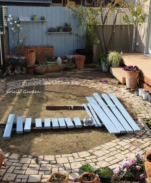 ◆またブルーに塗る! - Soleilの庭あそび・・・布あそび♪