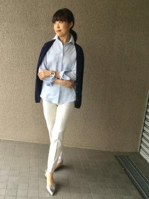 「麻シャツのストライプ」をどう着る?…③ - madameHのバラ色の人生
