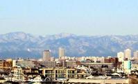 山並が見える - のんびり街さんぽ