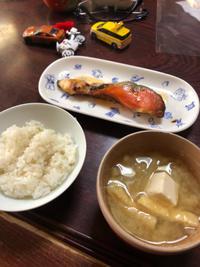 焼き鮭 - 庶民のショボい食卓