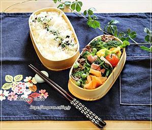 牛肉ブロッコリーしめじの柚子胡椒炒め弁当とおうち居酒屋♪ - ☆Happy time☆
