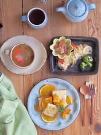 オレンジトーストの朝ごはん - 陶器通販・益子焼 雑貨手作り陶器のサイトショップ 木のねのブログ