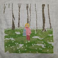 ちくちく針仕事74/PIGE I FORÅRSSKOV (春の森の中の少女)⑦ - そらいろのパレット