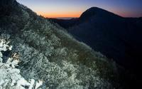 残り霧氷の夜明け国見山 - 峰さんの山あるき