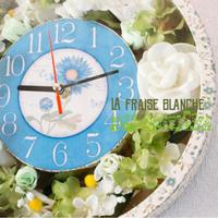 『Flower Clock』 - カルトナージュ教室 ~ La fraise blanche ~