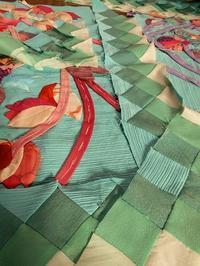 和布のチューリップ - eri-quilt日記3