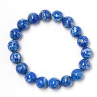 白と青のコントラストが面白いラピスラズリ - すぐる石放題