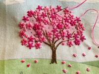 桜の刺しゅう / ぐりとぐらの切手 - y-hygge