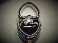 三つ葉のダイヤモンドリング - AntiqueJewellery GoodWill