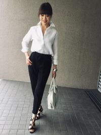 「麻シャツの白」をどう着る?…③ - madameHのバラ色の人生