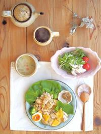 鶏のオレンジソースの朝ごはん - 陶器通販・益子焼 雑貨手作り陶器のサイトショップ 木のねのブログ