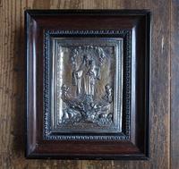 カルメル山の聖母のスカプラリオ 金属レリーフ 28.5cm×24cm  /G50 - Glicinia 古道具店