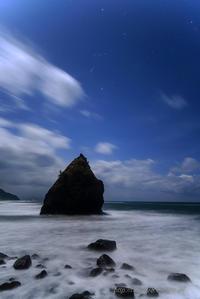 立岩とオリオン - デジタルで見ていた風景