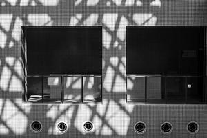 Diagonal Shadows In Horizontal And Vertical Lines - SILENT SOLILOQUY