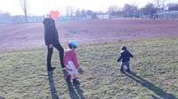 市民競技場でボール遊び☆ - ドイツより、素敵なものに囲まれて②