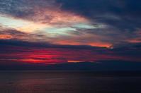 朝焼け雲p - 雲空海