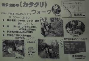 豊永山野草「カタクリ」ウオーク開催のご案内 -