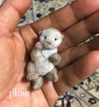 赤ちゃんカワウソ誕生 - pluie teddybear